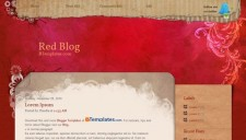 Red Blog Blogger Template