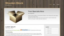 Wooden Block Blogger Template