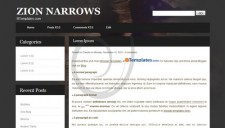 Zion Narrows Blogger Template