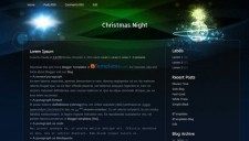 Christmas Night Blogger Template