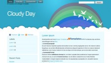 Cloudy Day Blogger Template