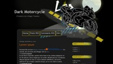 Dark Motorcycle Blogger Template