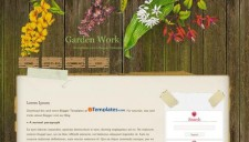 Garden Work Blogger Template