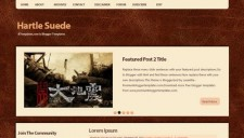 Hartle Suede Blogger Template