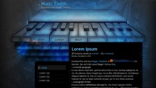 Music Touch Blogger Template