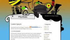 PSynthetic Blogger Template