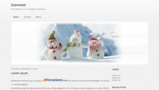 Snowmen Blogger Template