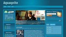 Aquasprite Blogger Template