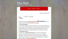 Dirty Plane Blogger Template