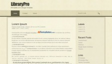 LibraryPro Blogger Template
