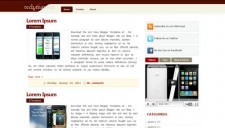 Tech Maroon Blogger Template