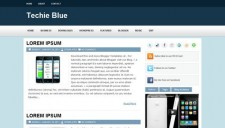 Techie Blue Blogger Template