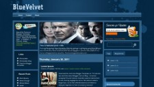 Blue Velvet Blogger Template