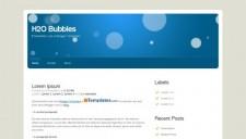 H2O Bubbles Blogger Template