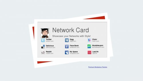 Network Card Blogger Template Btemplates