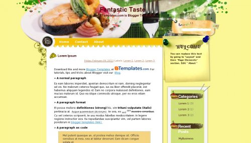 Fantastic Taste - Blogger Template
