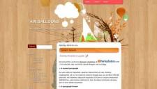 Air Balloons Blogger Template