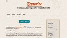 Liquorice Blogger Template