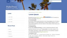 PalmTrees Blogger Template