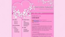 Pink White Valentine Blogger Template