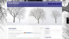 Snow Motion Blogger Template