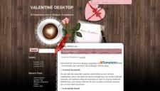 Valentine Desktop Blogger Template