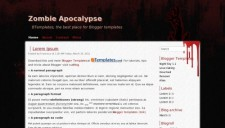Zombie Apocalypse Blogger Template