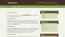 Chocolica Blogger Template