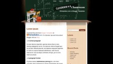 Classroom Blogger Template
