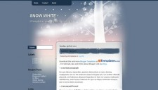 Snow White Blogger Template