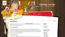 Sunday Lounge Blogger Template