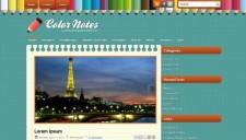 ColorNotes Blogger Template