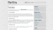 ElegantGrey Blogger Template