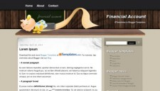 Financial Account Blogger Template