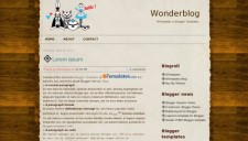 Wonderblog Blogger Template