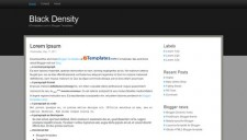 Black Density Blogger Template
