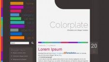 Colorplate Blogger Template