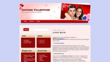 Dating Valentine Blogger Template