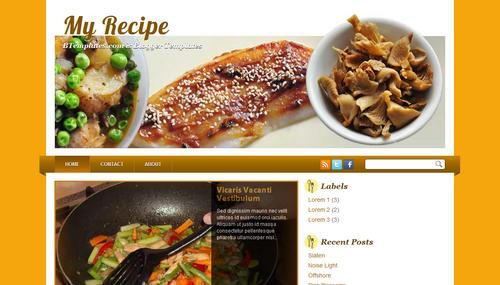 My Recipe Blogger template - BTemplates