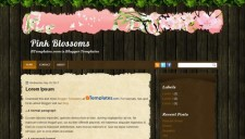 Pink Blossoms Blogger Template
