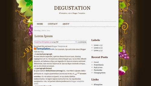 Degustation Template