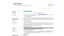 My White Blogger Template