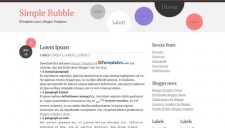 Simple Bubble Blogger Template