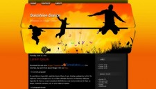 Sunshine Dance Blogger Template
