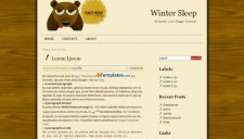 Winter Sleep Blogger Template