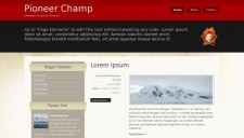 Pioneer Champ Blogger Template
