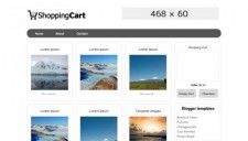 Shopping Cart Blogger Template