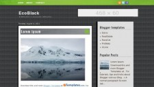 EcoBlack Blogger Template