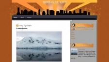 Horizont city Blogger Template