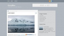 GreyMax Blogger Template